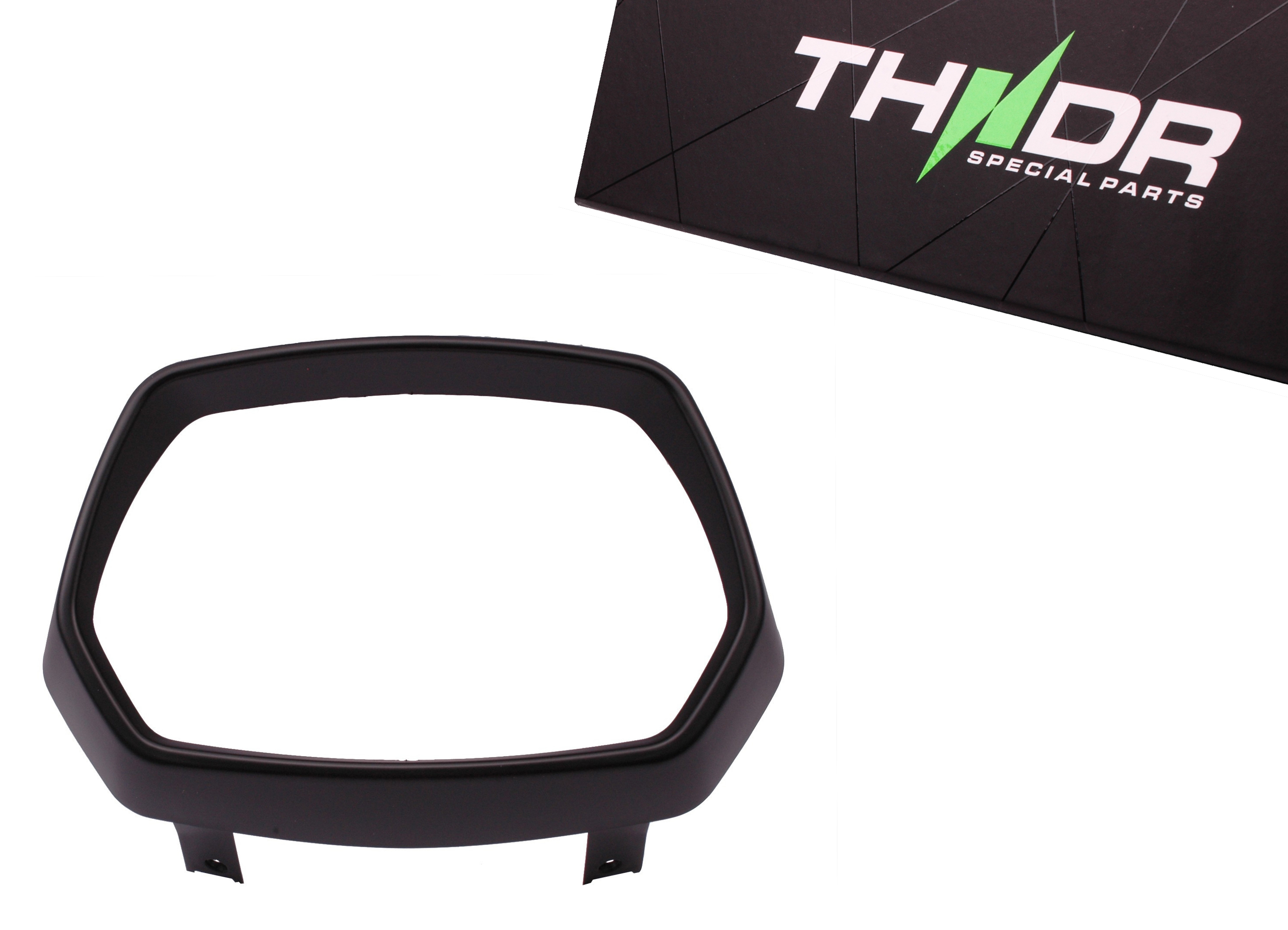 Rand voor koplamp mat zwart (stylingkit / -set) | Vespa Sprint