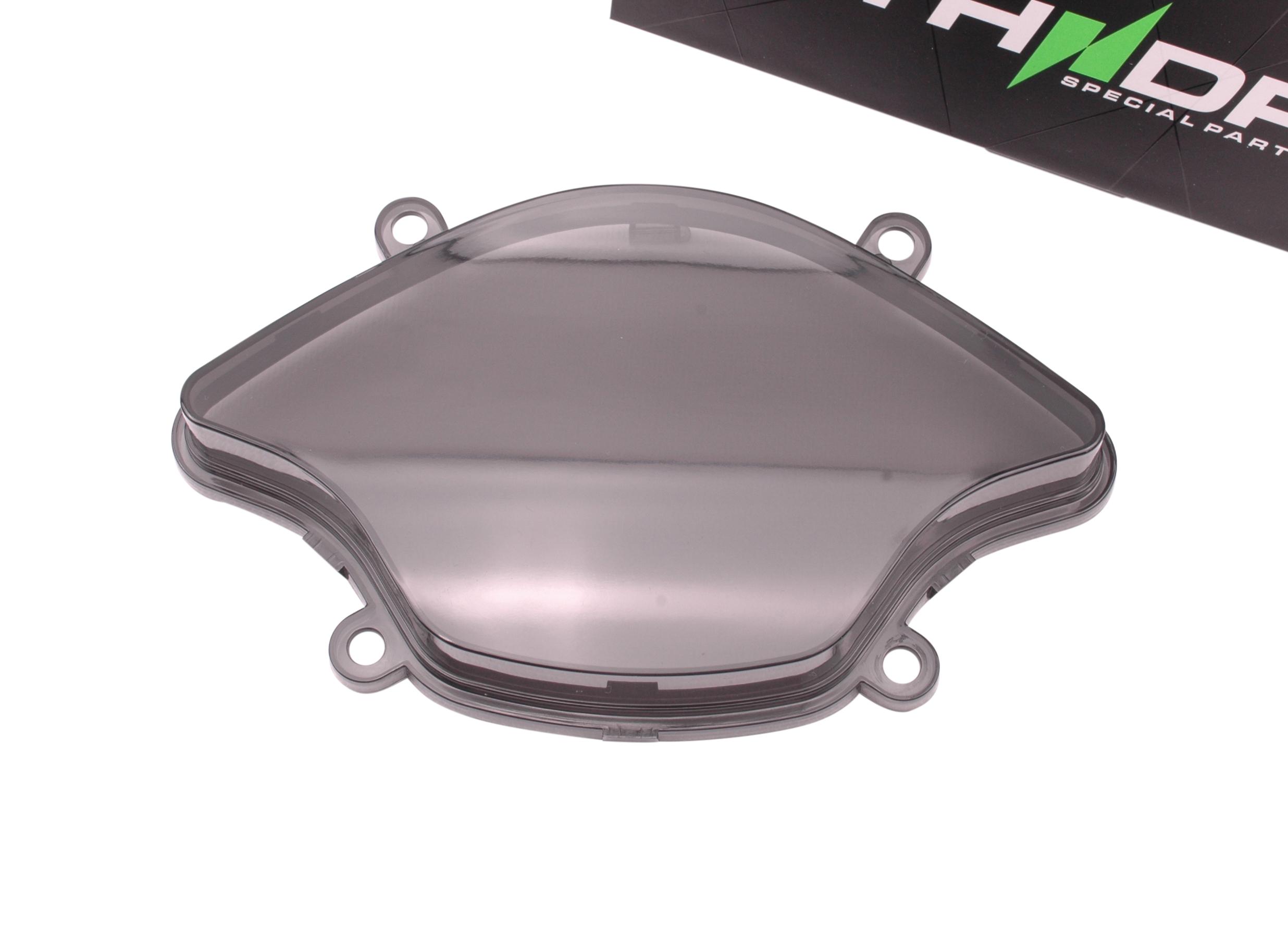 Cockpitglas zwart / smoke / getint zonder extra nokjes (oud model) | Vespa Primavera (-'17) / Sprint (-'17)