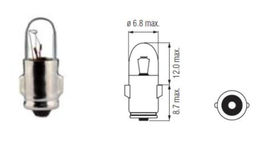 Lamp Bosma 12V - 1,2W BA7S | Cockpit